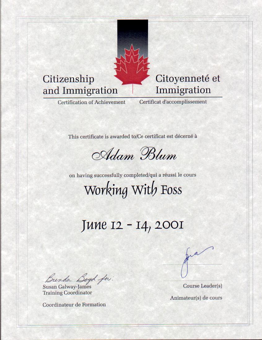 Credentials Canadian Immigration Problem Solvers Ltd